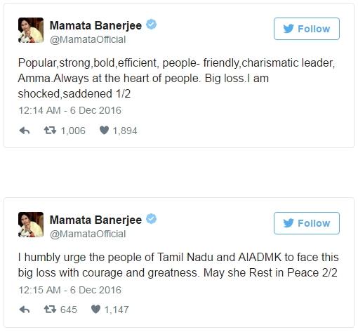 Mamata Banerjee Tweet