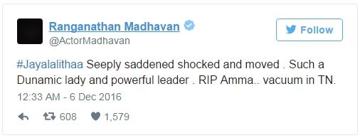 R Madhavan tweet