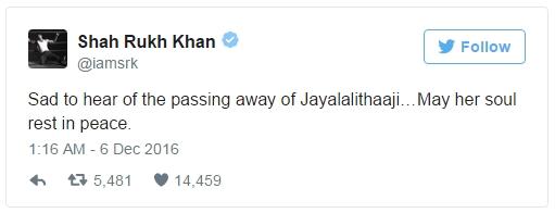 SRK tweet